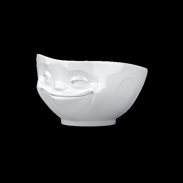 Schale grinsend weiß