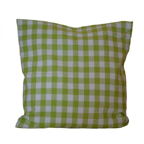 Zirbenkissen Karo grün 40x40