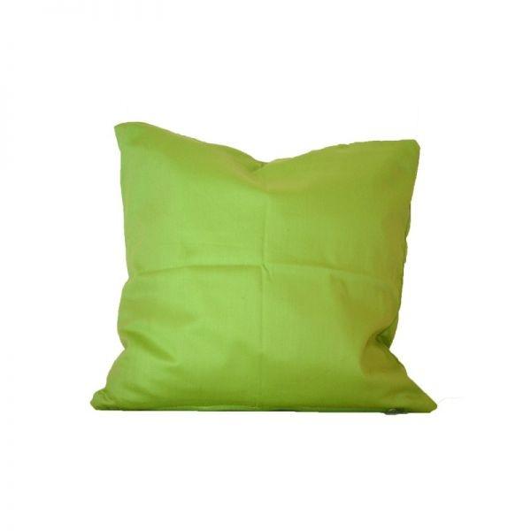 Zirbenkissen Inlett 40x40 mit Bezug grün