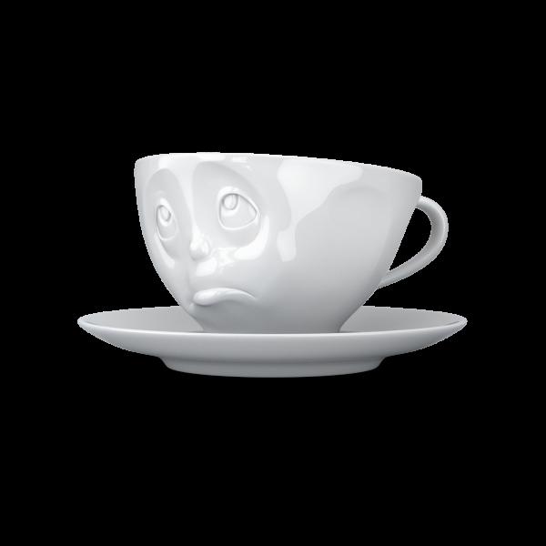 """Kaffeetasse 200 ml """"Och bitte"""" weiß"""