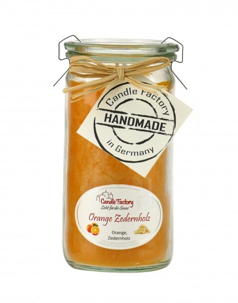 Duftkerze Orange-Zedernholz