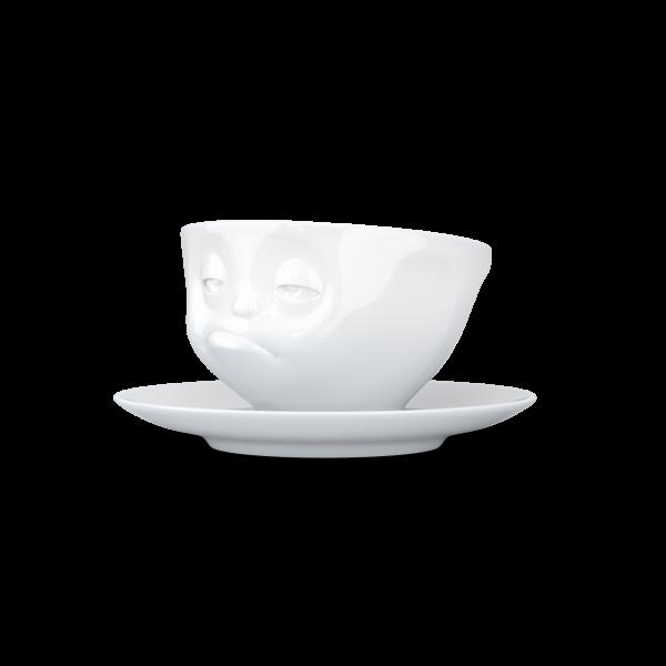 """Kaffeetasse 200 ml """"Verpennt"""" weiß"""