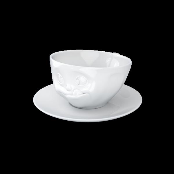 "Kaffeetasse 200 ml ""Lecker"" weiß"